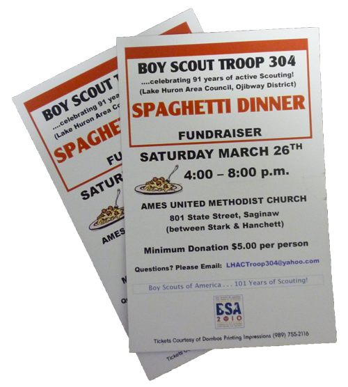 The gallery for spaghetti dinner fundraiser ticket for Fundraiser dinner tickets template