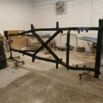 The new frame painted and ready to be installed