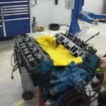 The engine removed