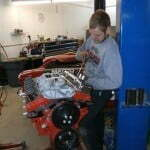 Josh tightening down the valve covers