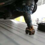 Bent ball joint from accident