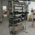 The removed parts cart