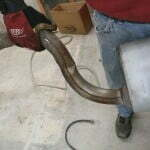 Exhaust bend from accident