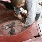Removing the spare tire tub