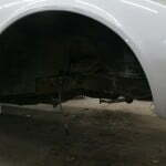 Front suspension removed