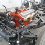 Engine installed in chassis