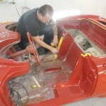 Masking the interior for paint