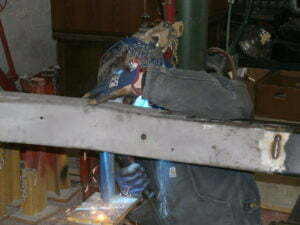 Welded on the donor section